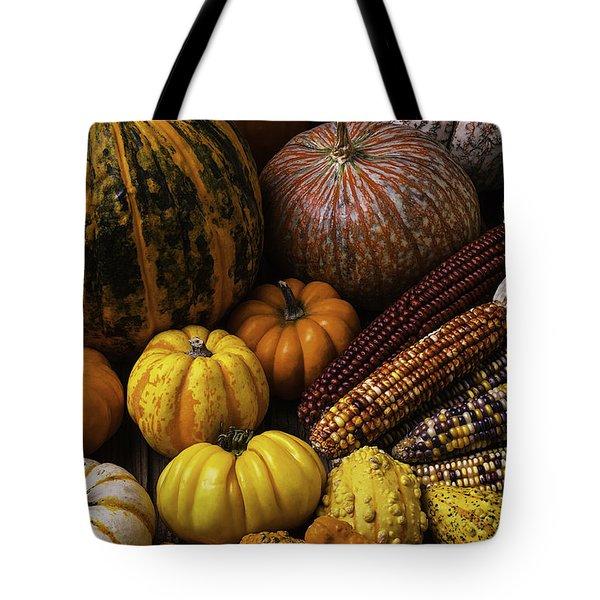 Fall Autumn Abundance Tote Bag