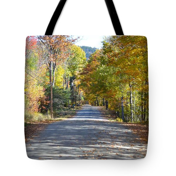 Fall Backroad Tote Bag