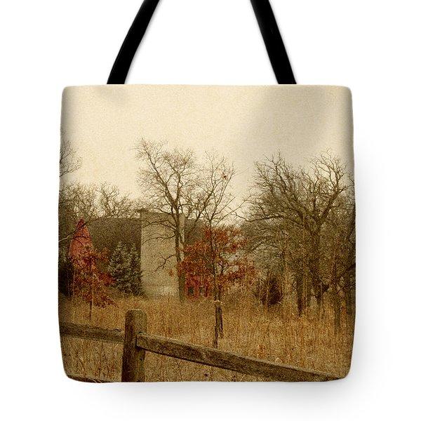Fall Barn Tote Bag by Margie Hurwich