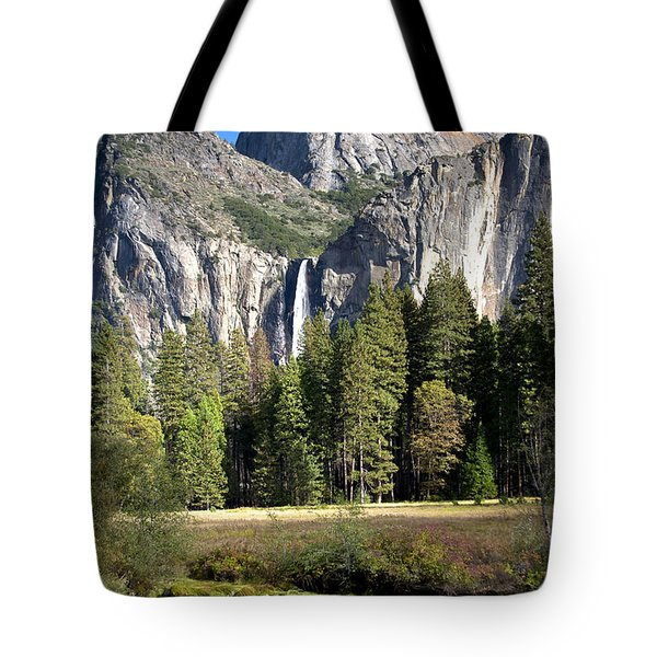 Tote Bag featuring the photograph Yosemite National Park-sentinel Rock by David Millenheft