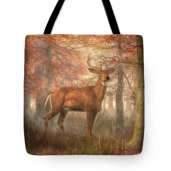 Fall Buck Tote Bag