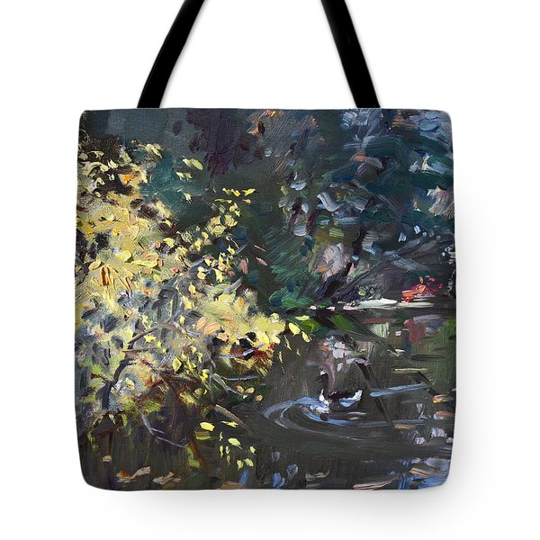 Fall By The Pond Tote Bag
