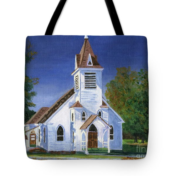 Fall Church Tote Bag