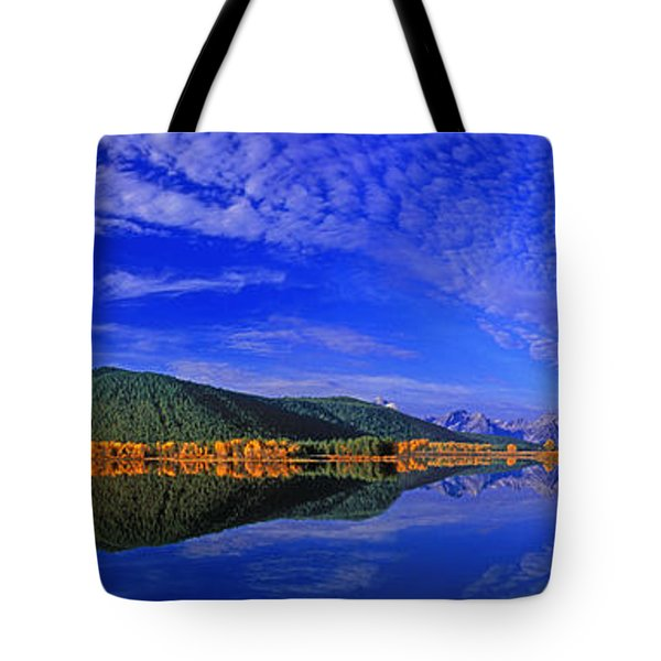 Tote Bag featuring the photograph Fall Color Oxbow Bend Grand Tetons National Park Wyoming by Dave Welling