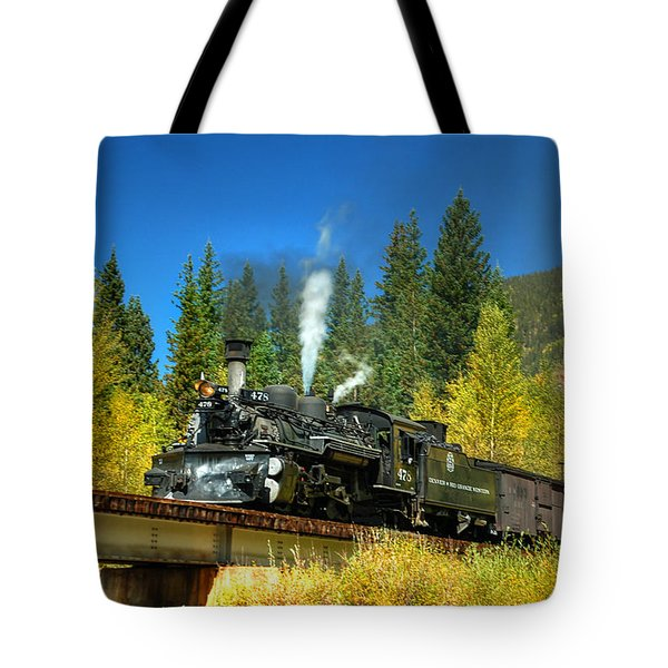 Fall Colored Bridge Tote Bag