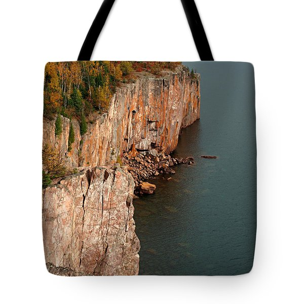 Tote Bag featuring the photograph Fall Colors Adorn Palisade Head by James Peterson