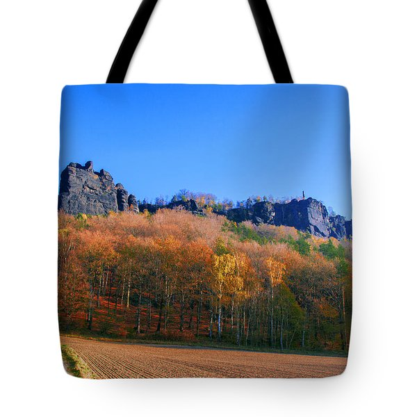 Fall Colors Around The Lilienstein Tote Bag