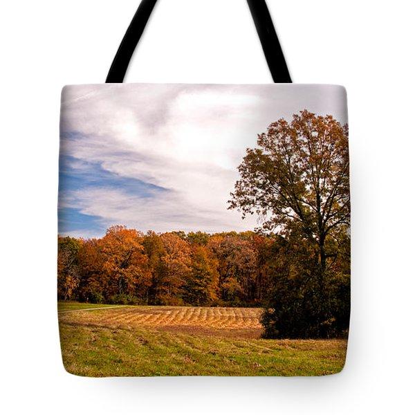 Fall Colors At Poets Walk Park Tote Bag