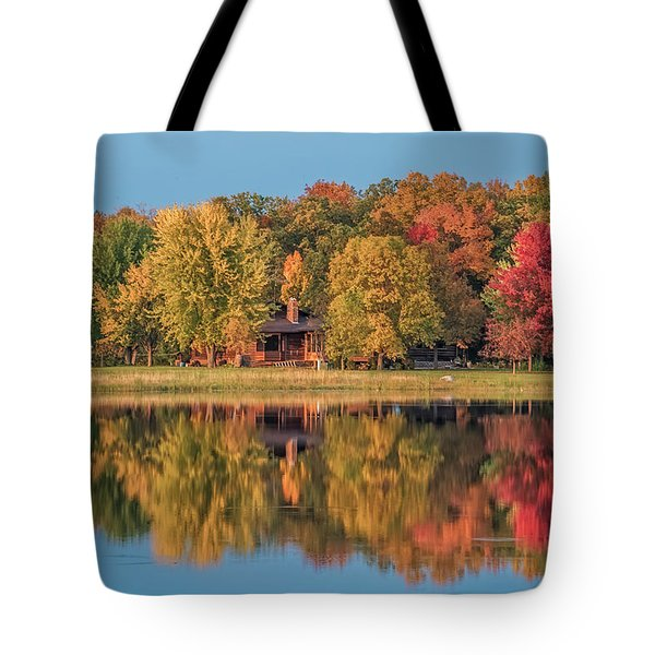 Fall Colors In Cabin Country Tote Bag by Paul Freidlund
