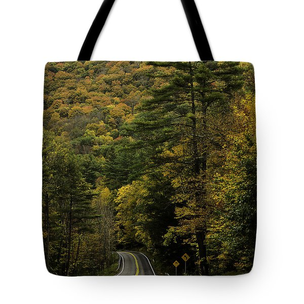 Fall Colors On Mohawk Trail Near Charlemont Tote Bag