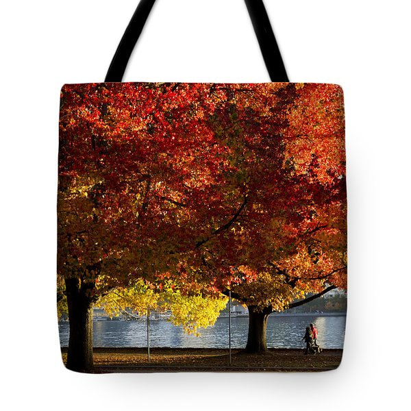Fall Colour In Stanley Park Tote Bag by Maria Janicki