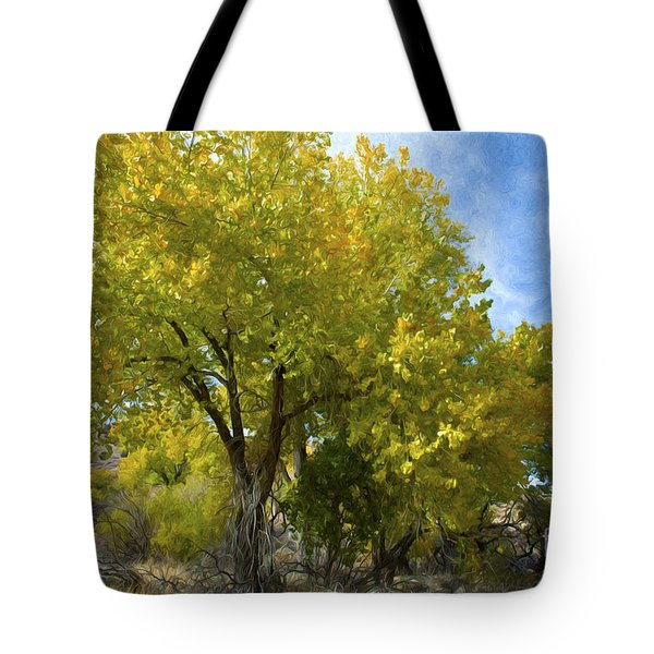 Fall Cottonwoods Tote Bag by Dianne Phelps