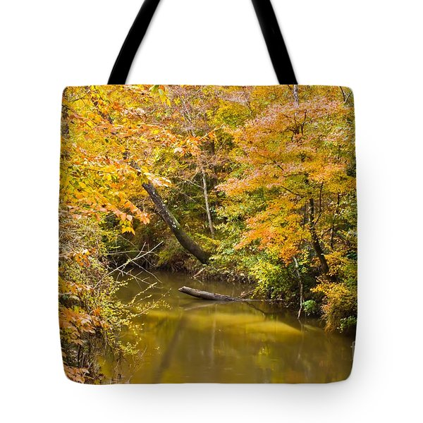 Fall Creek Foliage Tote Bag