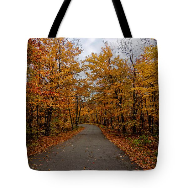 Fall Drive Tote Bag by Andre Moraes