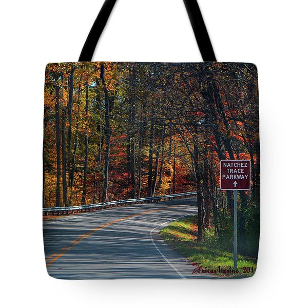 Fall Drive In Tennessee  1 Tote Bag by EricaMaxine  Price