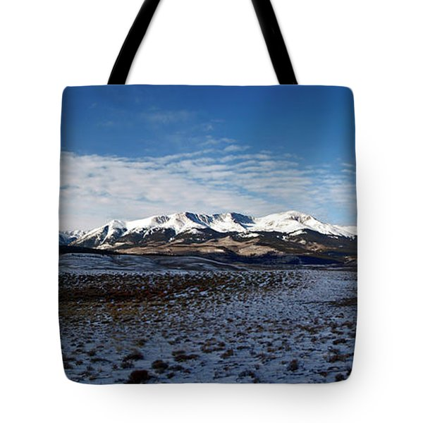 Fall Ends Panorama Tote Bag by Jeremy Rhoades