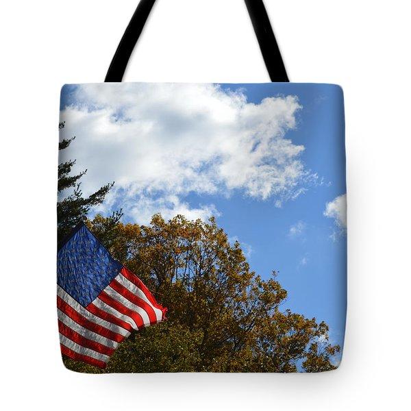 Fall Flag Tote Bag