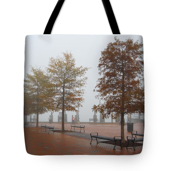 Tote Bag featuring the photograph Fall Fog by Jennifer Casey