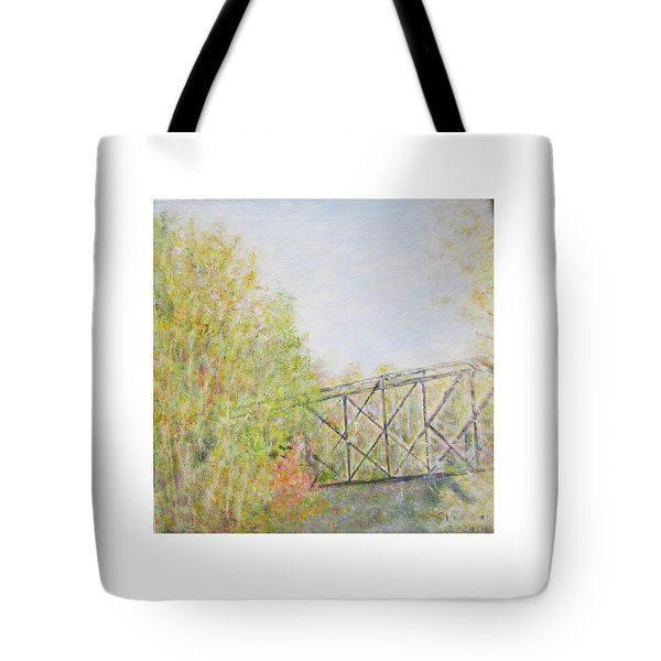 Fall Foliage And Bridge In Nh Tote Bag