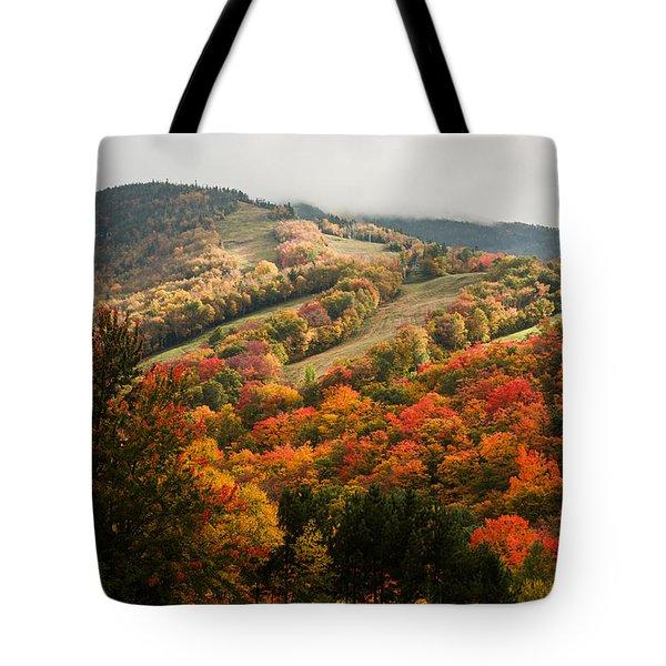 Fall Foliage On Canon Mountain Nh Tote Bag