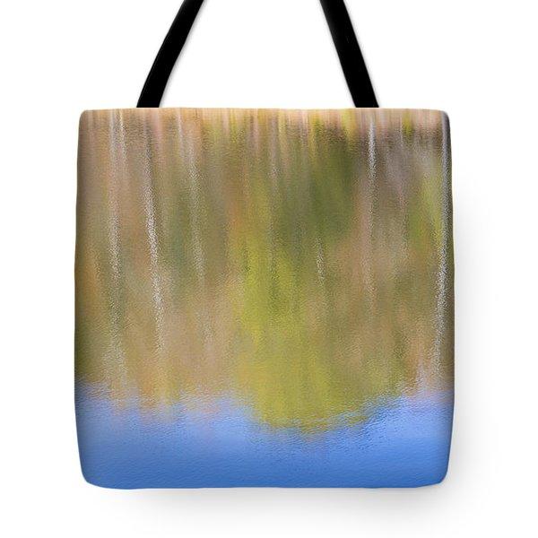 Fall Foliage Reflected In Lake Tote Bag