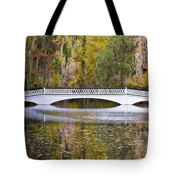 Fall Footbridge Tote Bag by Al Powell Photography USA