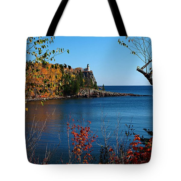 Tote Bag featuring the photograph Fall For Split Rock Lighthouse by James Peterson
