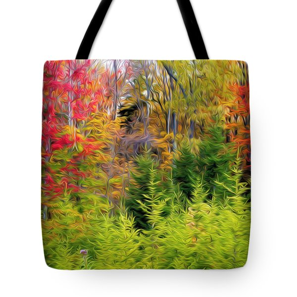 Fall Forest Foliage Tote Bag by Lanjee Chee