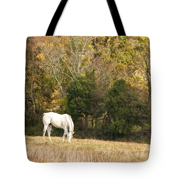 Fall Grazing Tote Bag by Joan Davis