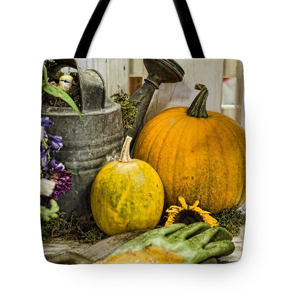 Fall Harvest Tote Bag by Heather Applegate