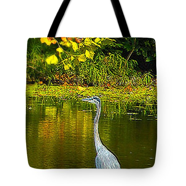 Fall Heron Tote Bag