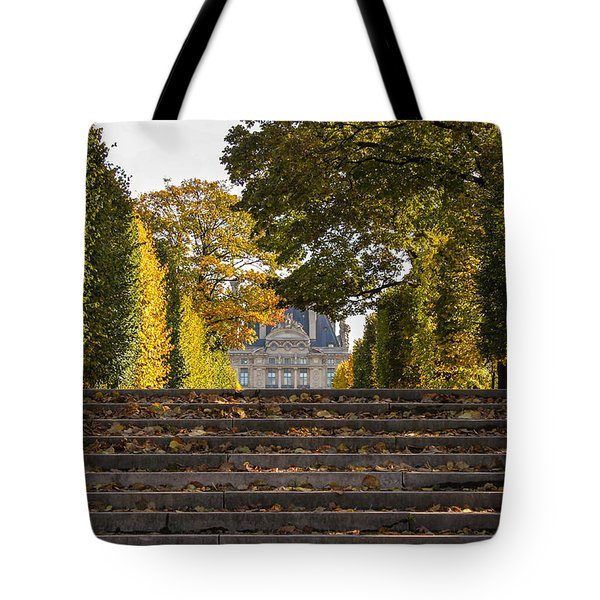 Tote Bag featuring the photograph Fall In Paris by Glenn DiPaola