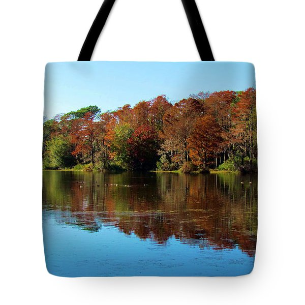Fall In The Air Tote Bag by Cynthia Guinn