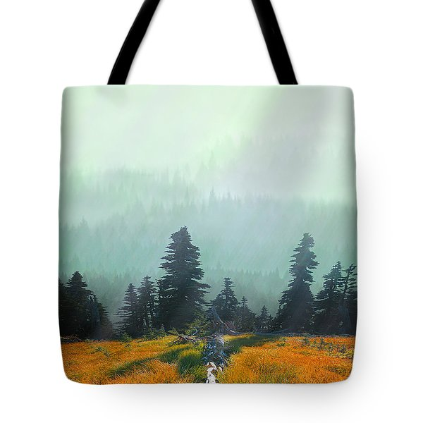 Fall In The Northwest Tote Bag by Jeff Burgess