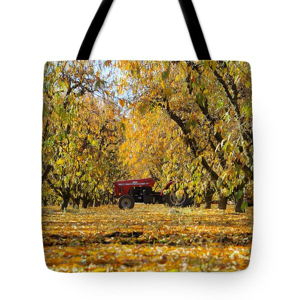 Fall In The Peach Orchard Tote Bag