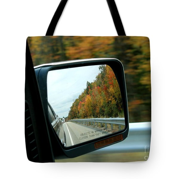 Fall In The Rearview Mirror Tote Bag