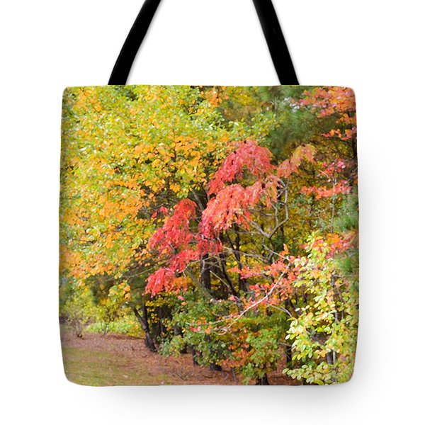 Fall Landscape 3 Tote Bag by Lanjee Chee