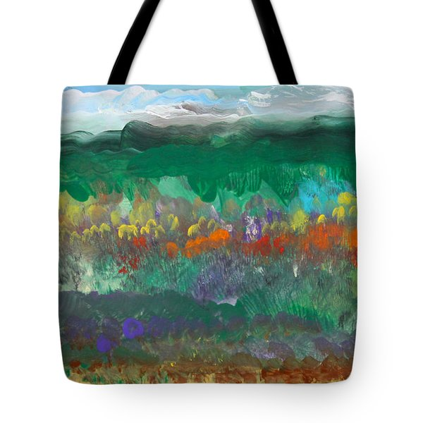 Fall Landscape Abstract Tote Bag