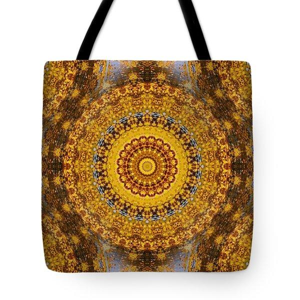 Fall Leaf Pattern Tote Bag by Aliceann Carlton