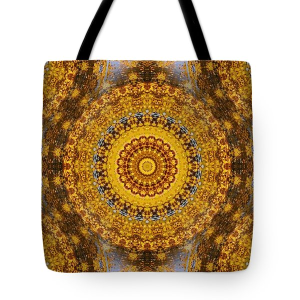 Tote Bag featuring the digital art Fall Leaf Pattern by Aliceann Carlton