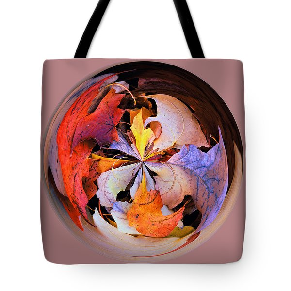 Fall Leaves Orb Tote Bag