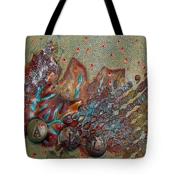 Tote Bag featuring the mixed media Fall Leaves by Phyllis Howard
