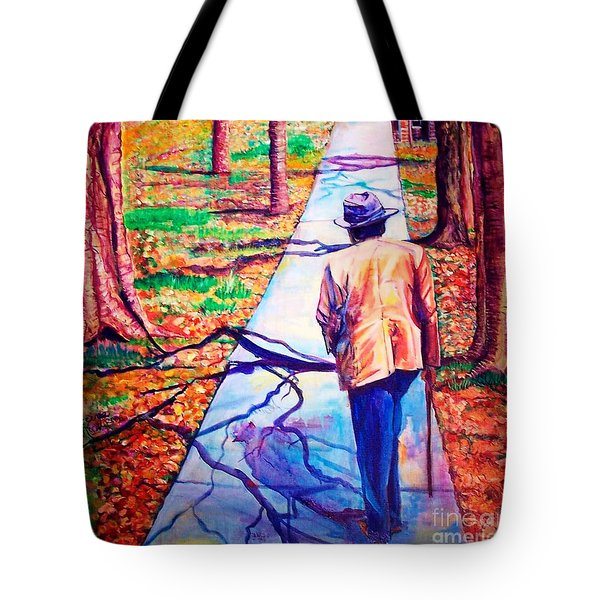 Fall On Highway 98' Tote Bag