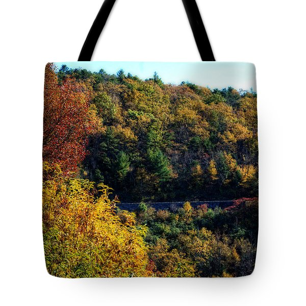 Tote Bag featuring the photograph Fall On The Blue Ridge Parkway by Cathy Shiflett