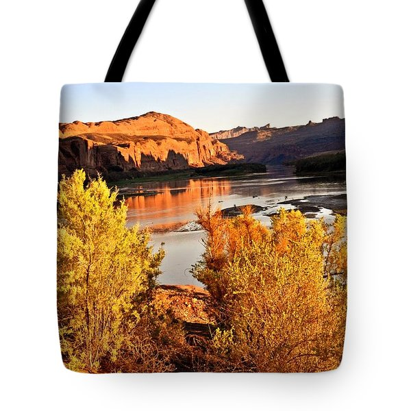 Fall On The Colorado Tote Bag by Marty Koch
