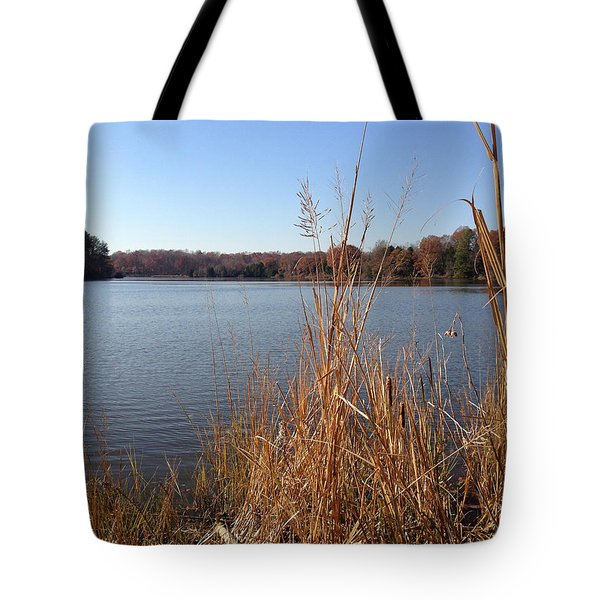 Fall On The Creek Tote Bag
