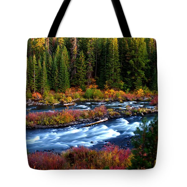 Tote Bag featuring the photograph Fall On The Deschutes River by Kevin Desrosiers