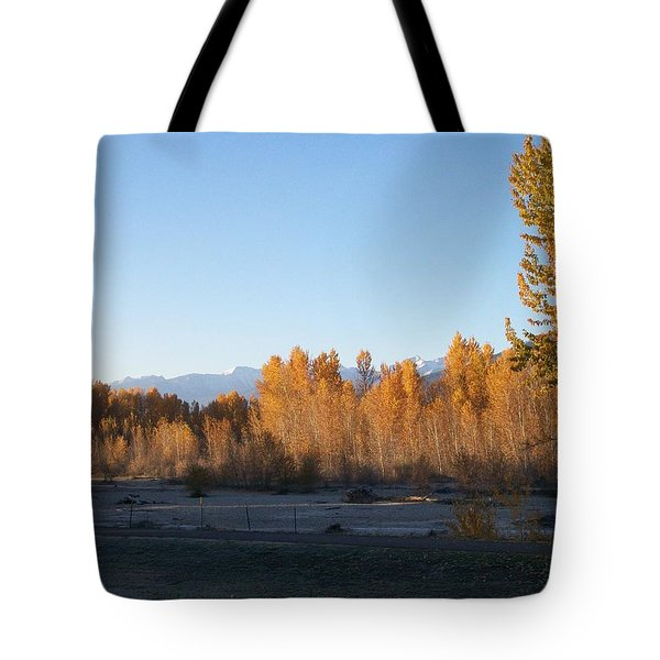 Fall On The River Tote Bag by Jewel Hengen