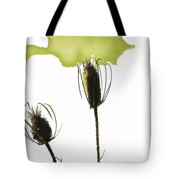 Fall On White Tote Bag by Rich Collins