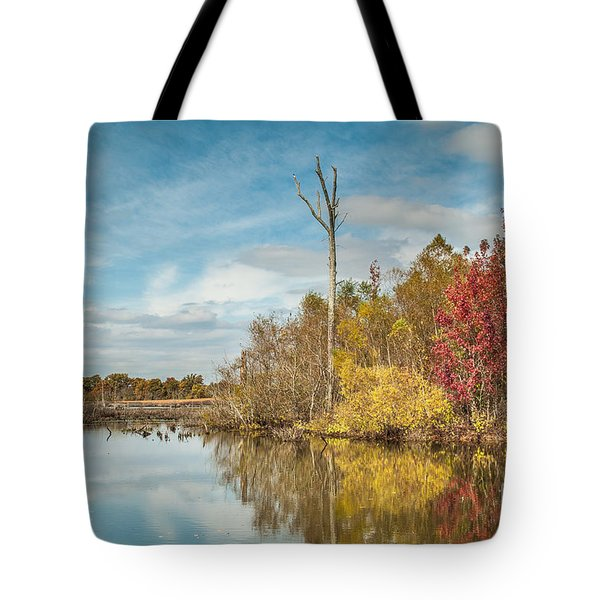 Tote Bag featuring the photograph Fall Pond by Debbie Green